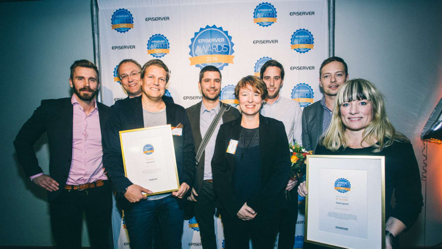 Fem nytänkande vinnare tar hem Episerver Awards 2014