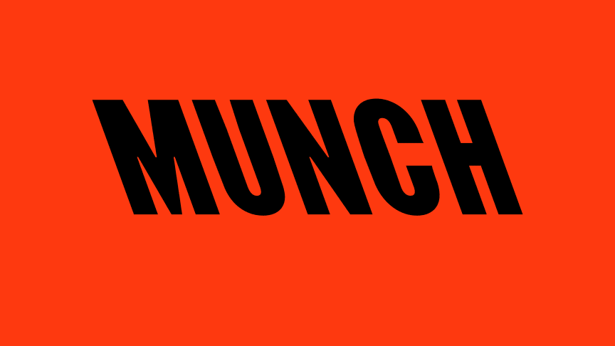 Ny logo for Munchmuseet utarbeidet av det London baserte designbyrået North