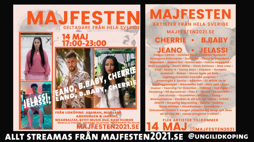 Majfesten 2021 - digital festival 14 maj