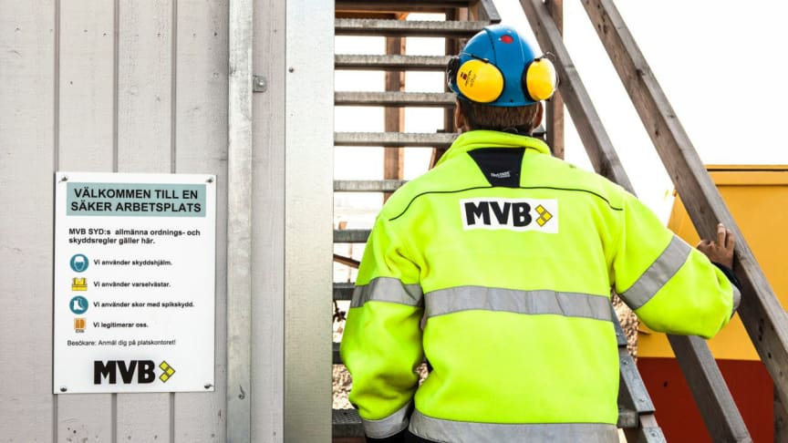 I AddMobiles system styr MVB Syd vem som har tillträde att passera genom byggarbetsplatsens grindar och dörrar. Foto: MVB