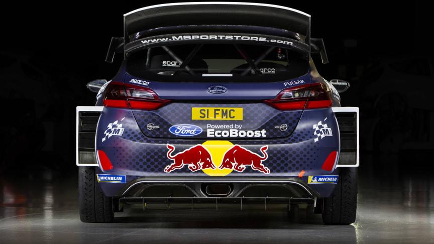 Ford Fiesta WRC – Ford M-Sports bil under Rally Sweden.