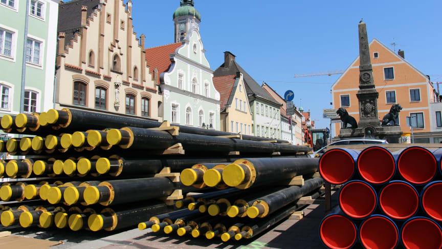 Ob im Altstadtbereich oder Gewerbegebiet: Das Bayernwerk und die Stadt Freising bleiben auch weiterhin Partner in der Fernwärmeversorgung.