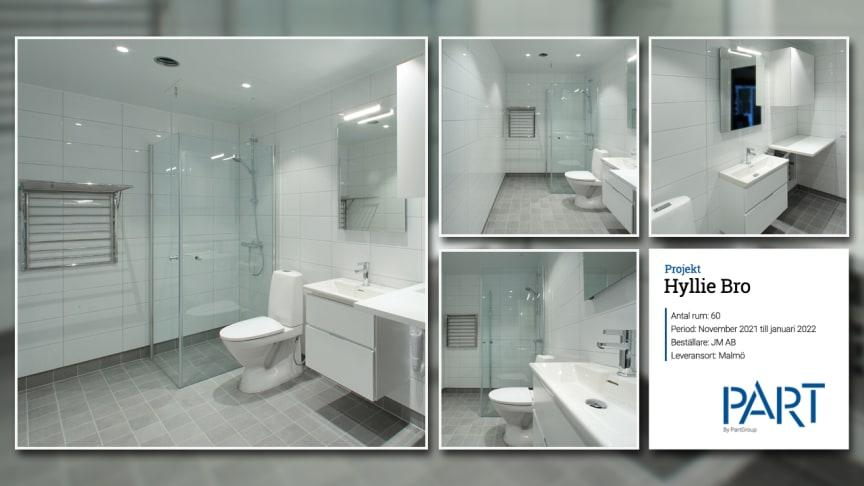 Part levererar 60 badrum till projektet Hyllie Bro i Malmö.