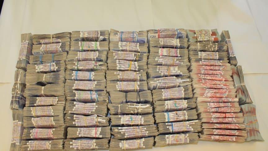 A bundle of cash seized by HMRC