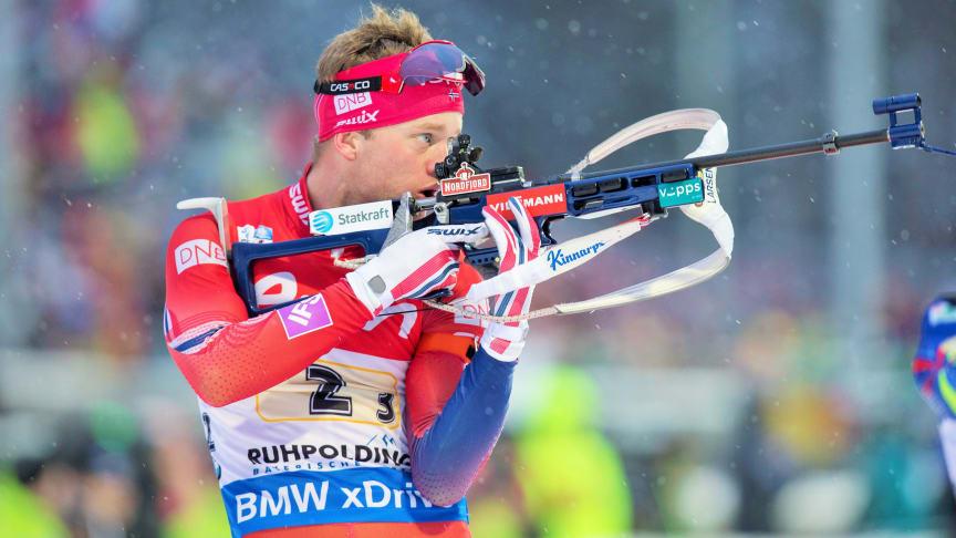 Tarjei Bø er klar for VM-troppen som reiser til Hochfilzen