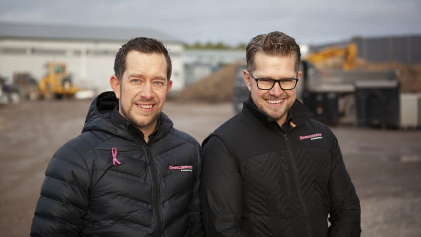 Jonas Marcusson, vd, och Robert Marcusson, Entreprenadchef på Marcussons entreprenadteknik