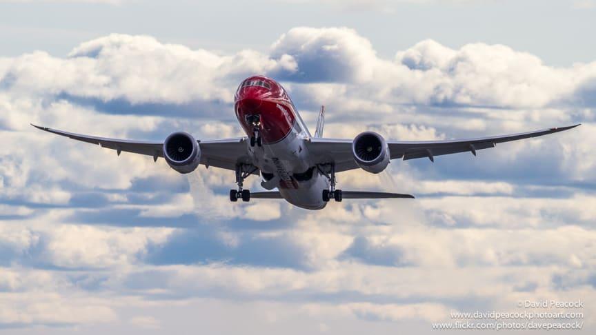 Fler passagerare och fulla långdistansplan för Norwegian i september
