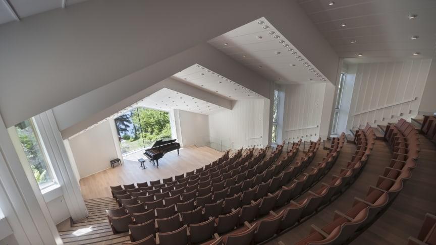Troldsalen ved Edvard Grieg Museum Troldhaugen