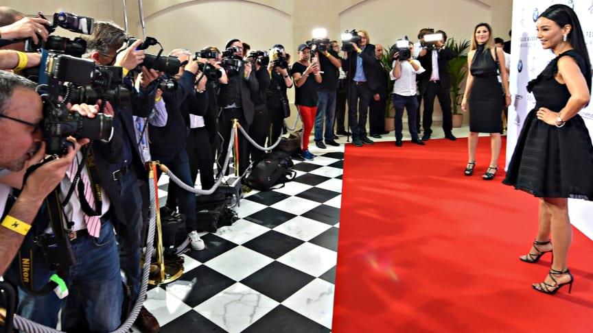 Verona Pooth auf dem Roten Teppich des Felix Burda Award