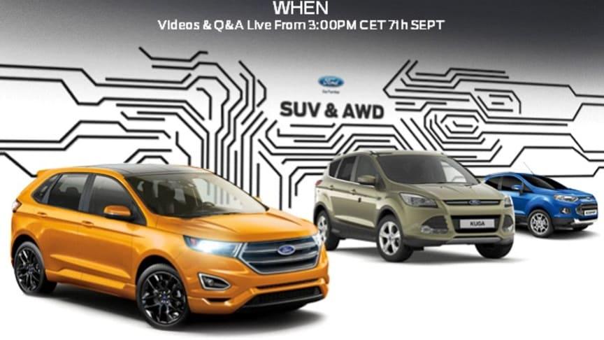 Ford inviterer til SUV & AWD webinar!