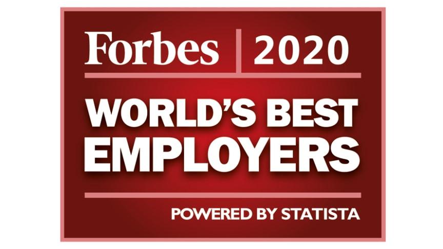 Brother Industries, Ltd. kunngjorde i dag at selskapet var tatt inn på listen «Verdens beste arbeidsgivere» for 2020 av Forbes Magazine