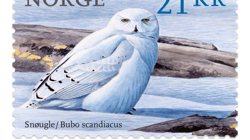 Dette er verdens vakreste frimerke. Kunstner Viggo Ree /arrangement Enzo Finger