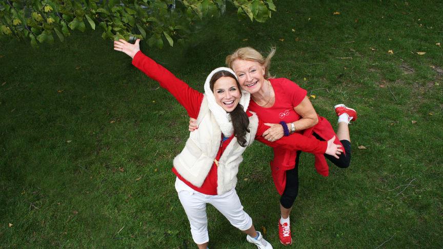 Annika Jankell och Alexandra Charles är konferenciers på Hälsodagen i Stockholm.