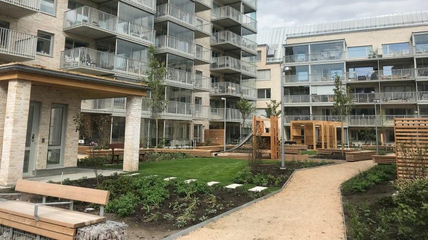 Inflyttning klar i Riksbyggens Brf Munkebäcksäng i Göteborg