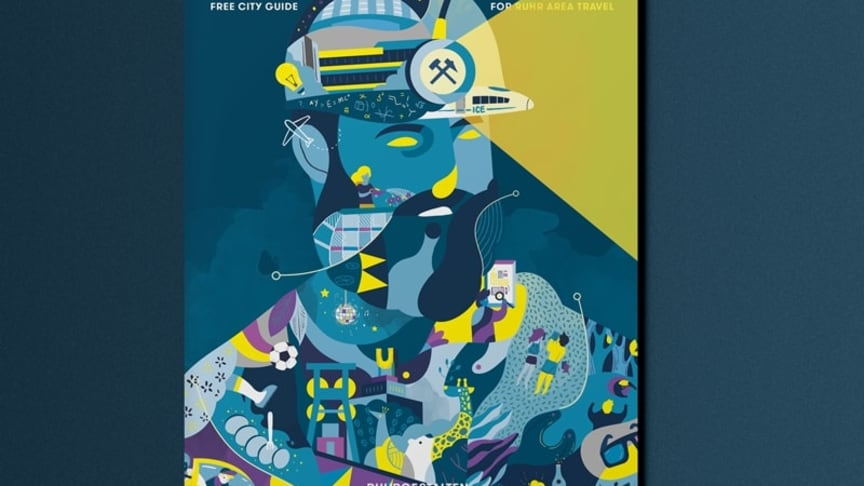Das Cover der neuen KONTER-Ausgabe, des kostenlosen City Guides für das Ruhrgebiet der Ruhrgestalten
