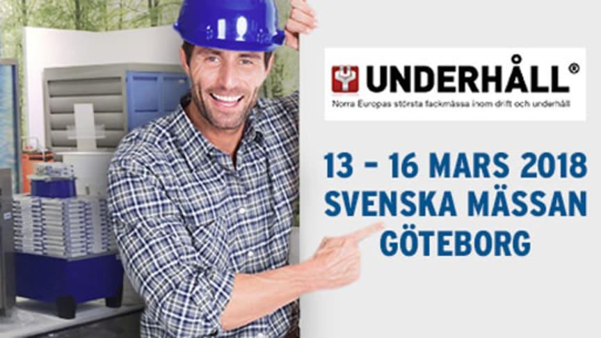 Sverigepremiär för flera produkter från DENIOS på Underhållsmässan.