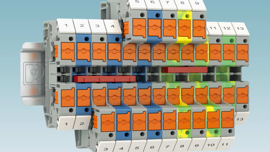 PTV 6 - Push-in anslutningsplint med vertikal ledaranslutning