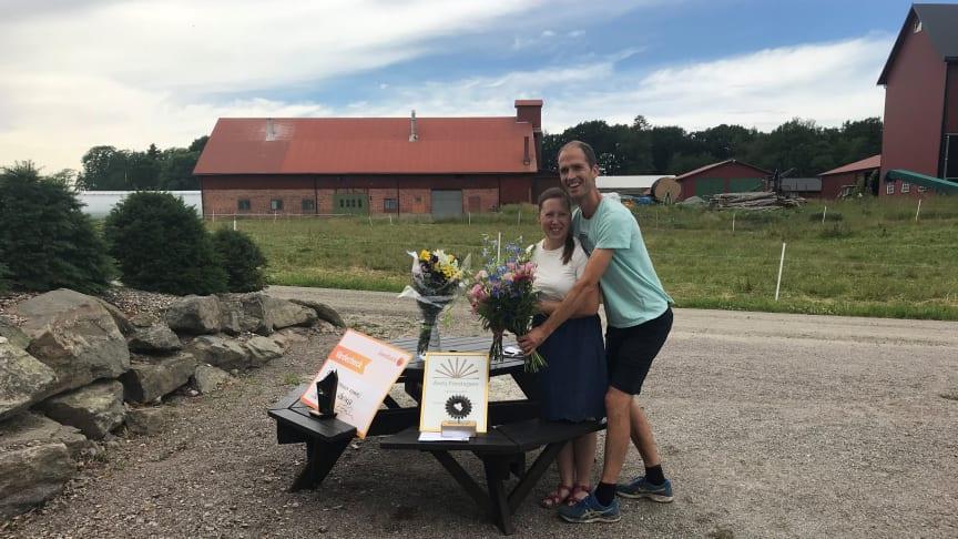 Anette och Peter van Schie driver Gällenäs Grönsaker AB och har utsetts till Årets Företagare 2021 i Vänersborg