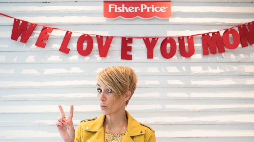 Miriam Jacks beim vierten Fisher-Price Elternbrunch