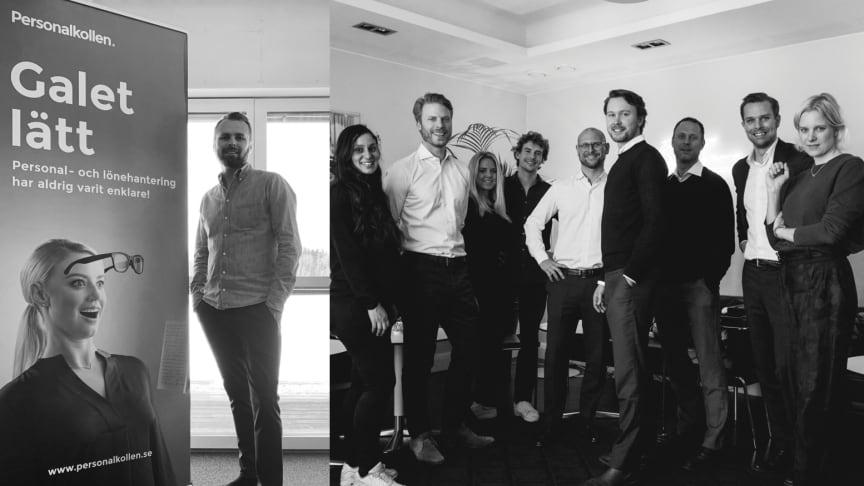 Personalkollens vd och medgrundare Niclas Lundell samt Novax team