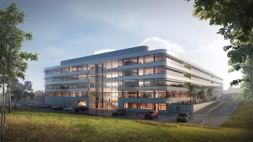 The existing DSV HQ in Hedehusene, DK, with the addition of 10,000 m2 to be completed by 2020