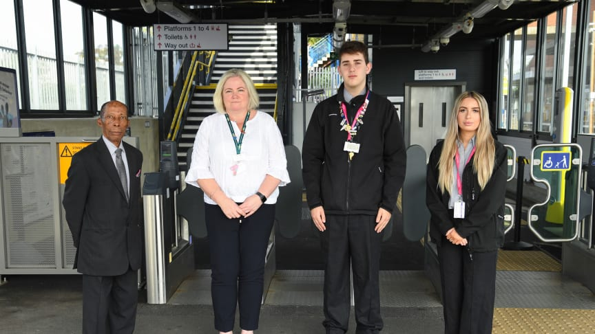 Colleagues from Govia Thameslink Railway (GTR) gather to mark World Suicide Prevention Day. More images below.