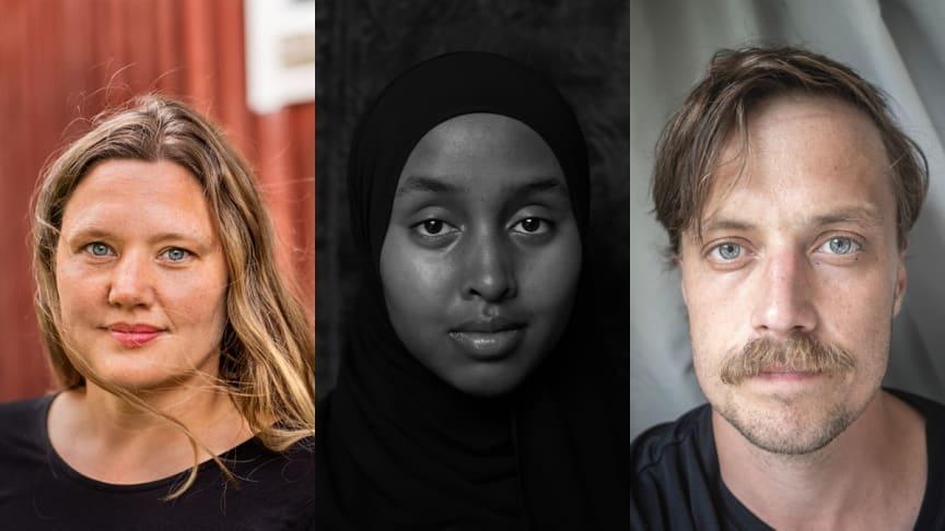Anna Rosling Rönnlund, Ikram Abdulkadir och David Lundmark tar hem årets Dokumentärfotopris. Foto: Jann Lipka, Salma Abdulkadir och David Lundmark.