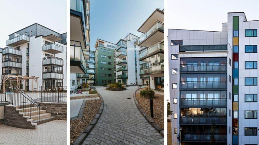 HSB-fastigheter i Växjö har tilldelats Miljöbyggnad Silver