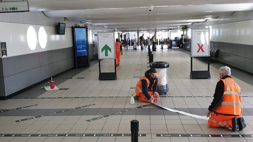 New signage being installed at Milton Keynes station