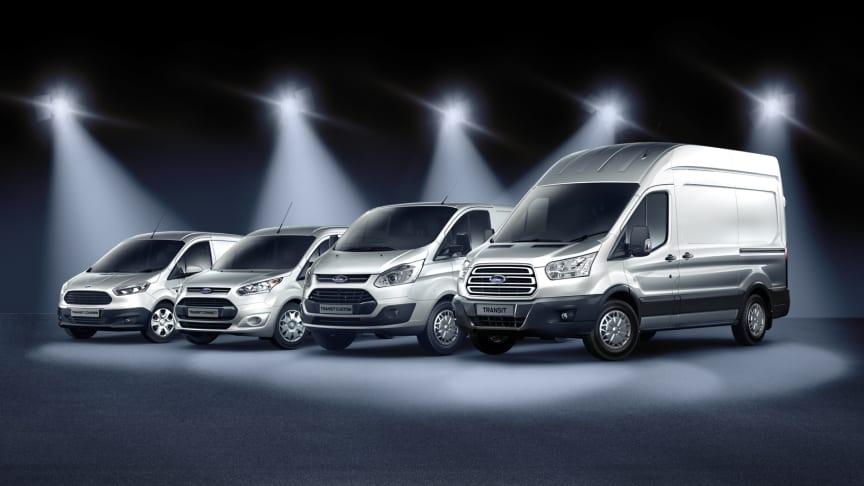 Ford fortsätter öka försäljningen av transportbilar i Sverige – högsta marknadsandelen sedan 1995