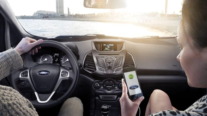 Europeiske Ford-sjåfører får nye apper inklusive TomTom og Hotels.com