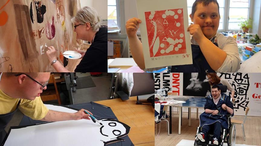 Konstlyftet, ett projekt för vuxna personer med kognitiv eller fysisk funktionsnedsättning, får en nystart 2021. Foto: Malmö Konsthalls arkiv
