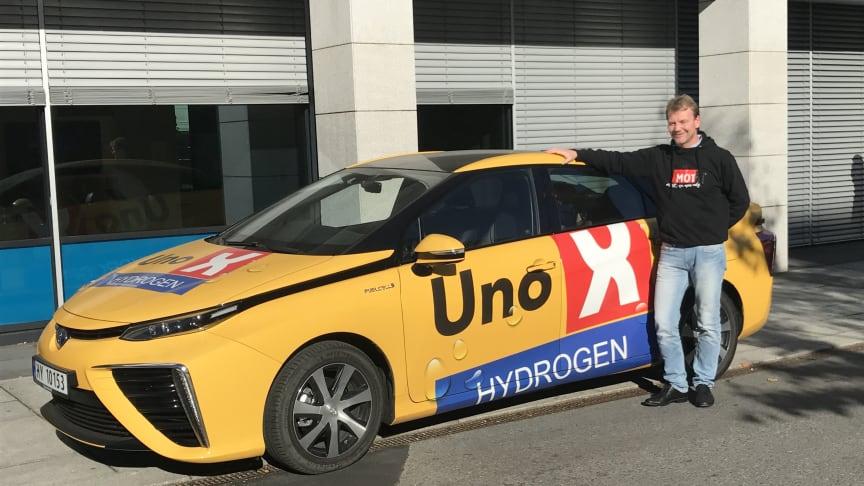 ENOVASTØTTE: Uno-X Hydrogen, her representert ved daglig leder Roger Hertzenberg er et av selskapene som får støtte til å bygge ut Hydrogenstasjoner.