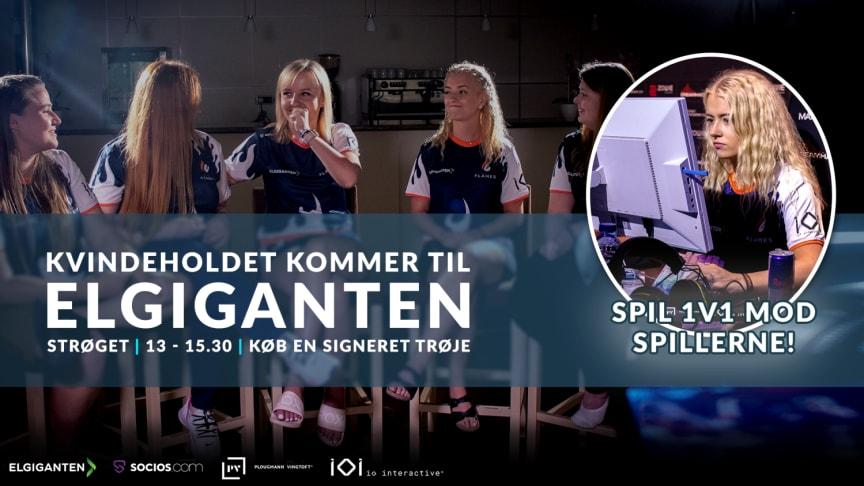 Mød Mimi og et af verdens bedste kvindelige CS:GO-hold i Elgiganten på Strøget