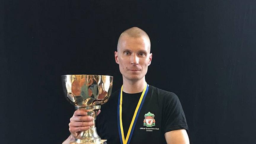 Henrik Kristedal blev med sin SheepFucker English Brown Ale svensk mästare i hembryggd öl 2019.