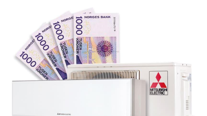 Få 4000 kr for din gamle varmepumpe