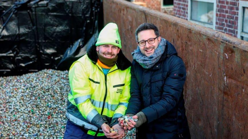 Weltrekordhalter Ingo Petermeier und Carsten Frederik Buchert von der Felix Burda Stiftung