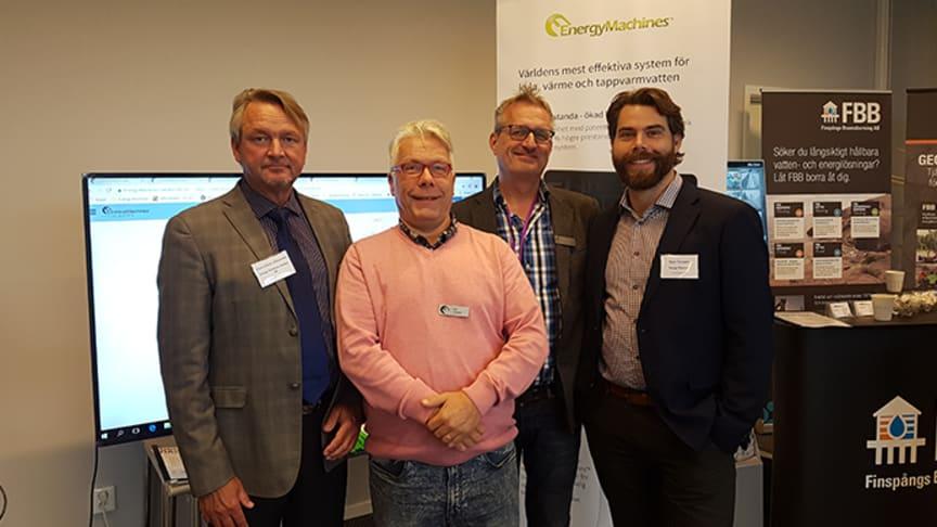 Från vänster - Hans-Göran Göransson, Per Hansen, Thomas Göransson och Jens Termén - Energy Machines
