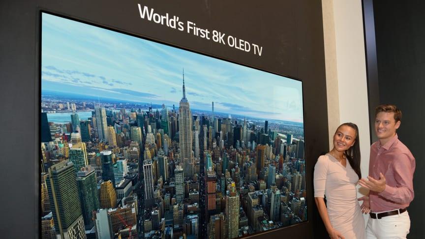 IFA: LG introducerar världens första OLED-TV med 8K-upplösning