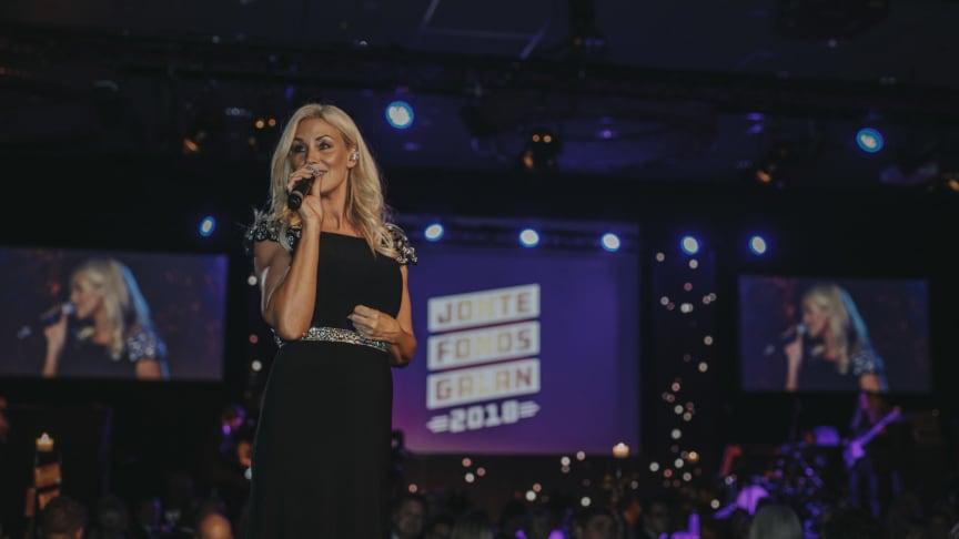 Jessika Andersson uppträder även på årets Jontefondsgala