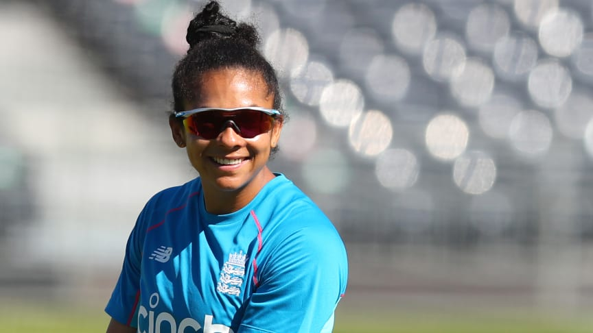 Sophia Dunkley could be in line for her ODI debut. Photo: Getty Images