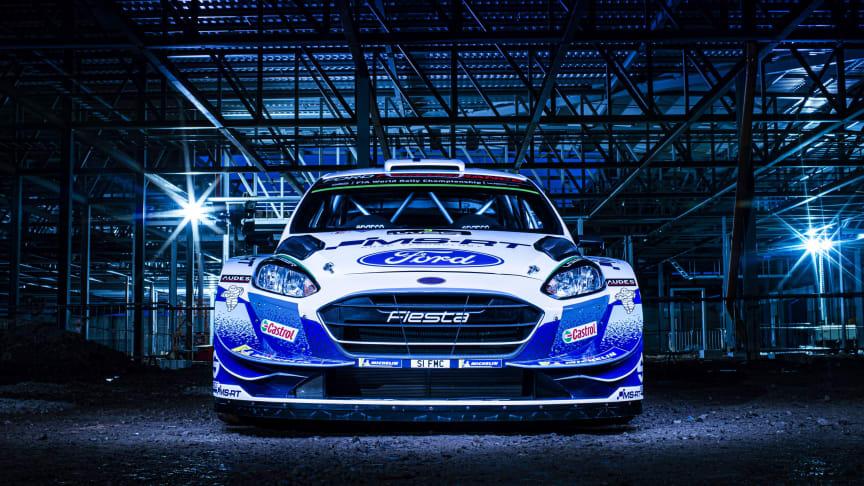 M-Sport Fiesta-WRC lähtee rallin MM-kauteen sinivalkoisin värein