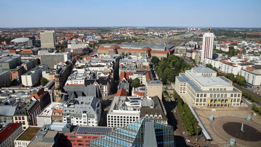Leipzig - Blick über die Innenstadt - Foto: Andreas Schmidt