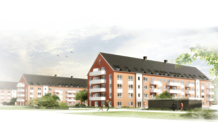 Allt klart för Riksbyggens hyreslägenheter i Lund