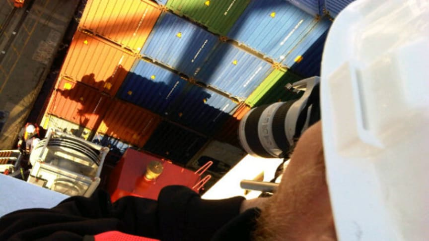 Box magic - Filming Cavotec on the APL Singapore at the Port of Oakland #Cavotecfilm