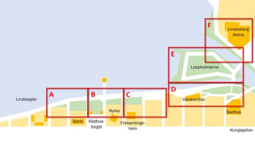 Det mesta av det bästa med Lindesbergs kommun - på fyra timmar 16 maj (kl 16.00-20.00) och två kilometer på Strandpromenaden (kartan) i sjöstaden Lindesberg.