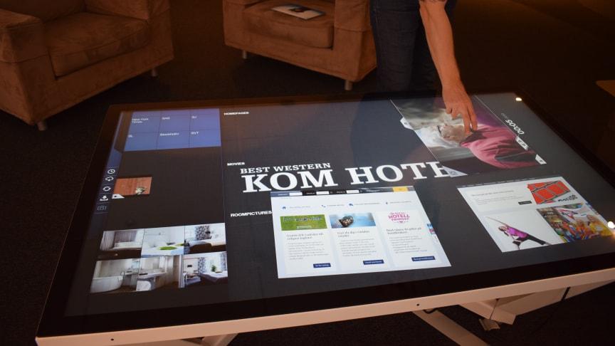 Interaktivt bord på Best Western Kom Hotel i Stockholm