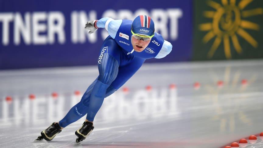 Sverre Lunde Pedersen har vist bedring den siste tiden. Kan han være med i toppen under EM i Heerenveen? FOTO: Ritzau Scanpix
