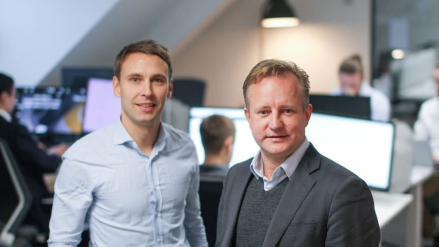 Andreas Grydeland Sulejewski, CEO, Neptune Software, and Ole-André Haugen, co-founder & chairman