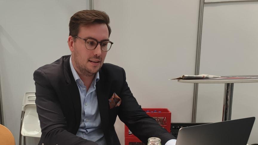 Affärsutvecklaren och föreläsaren Alexander Westerling, Hawco AB, briljerade trots få deltagare.